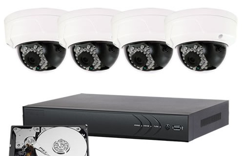October Promotion:IP 4CH 4.0MP Indoor/Outdoor Packages- ( Plus Package )